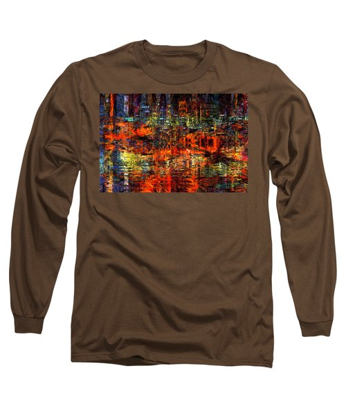 Abstract Evening Long Sleeve T-Shirt