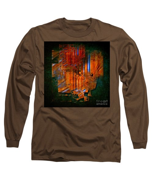 Long Sleeve T-Shirt featuring the painting Abstract Fields by Alexa Szlavics