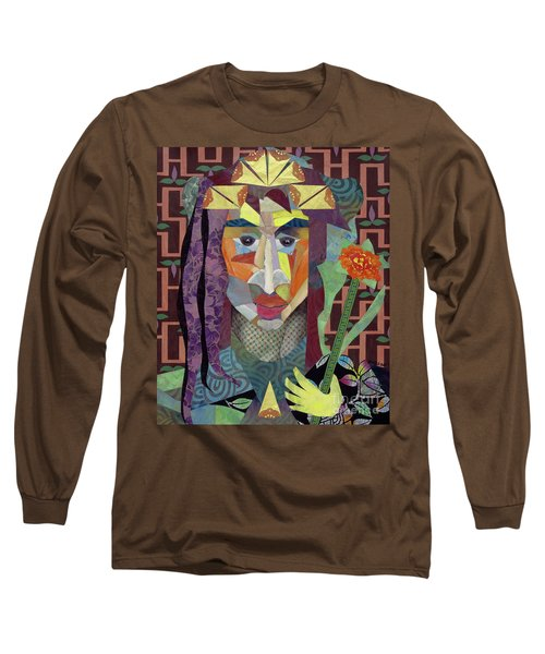 abstract figure collage - Crown Princess Long Sleeve T-Shirt