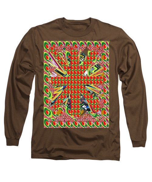 Abstract Flowers Floral Leaf Leaves Colorful Modern Art Navinjoshi Fineartamerica Pixels Long Sleeve T-Shirt by Navin Joshi