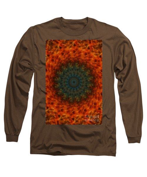 Abstract Fractal  Long Sleeve T-Shirt by Donna Greene