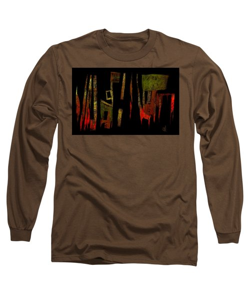 Long Sleeve T-Shirt featuring the painting Abstract II - 19dec2016 by Jim Vance