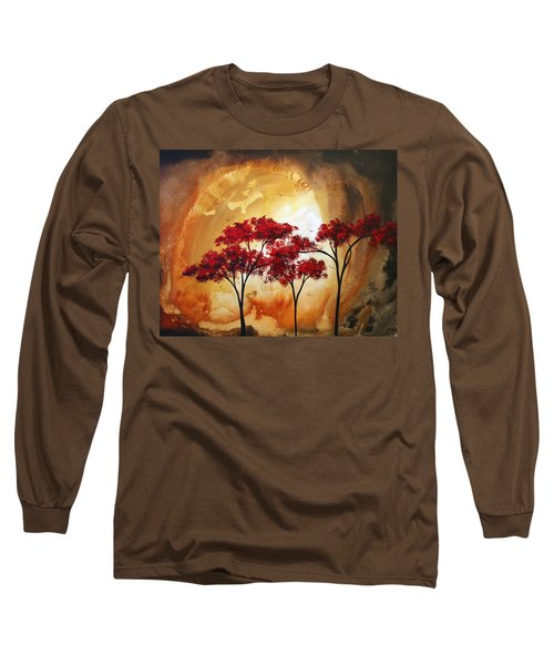 Abstract Landscape Painting Empty Nest 2 By Madart Long Sleeve T-Shirt