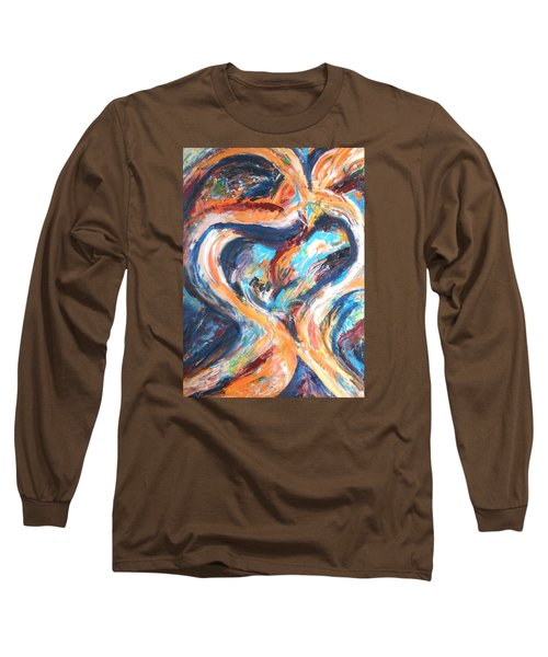 Abstract Of Womb Long Sleeve T-Shirt by Esther Newman-Cohen