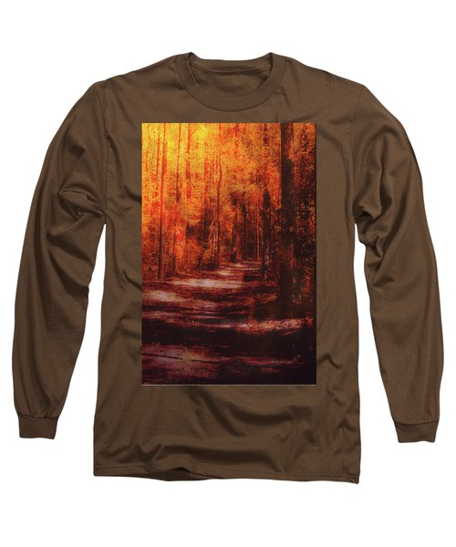 Abstract Path Long Sleeve T-Shirt