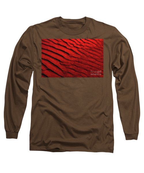 Abstract Red Sand- 2 Long Sleeve T-Shirt