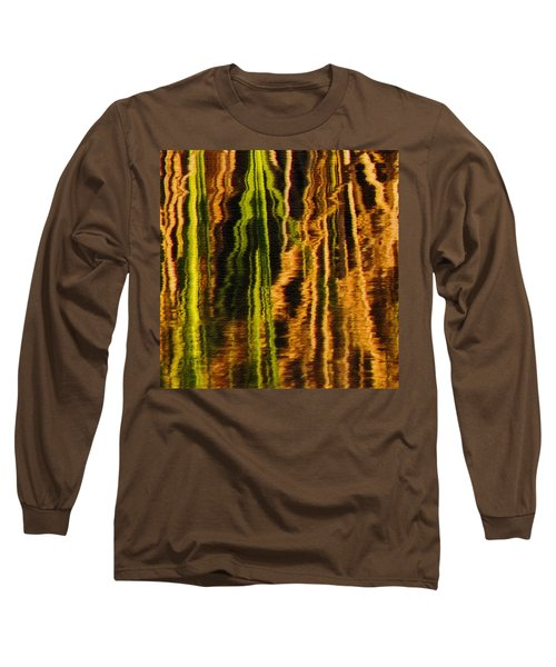 Abstract Reeds Triptych Middle Long Sleeve T-Shirt