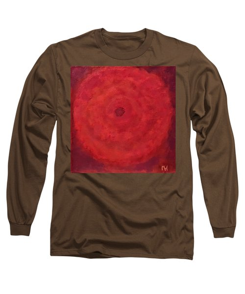 Abstract Rose Long Sleeve T-Shirt by Margaret Harmon