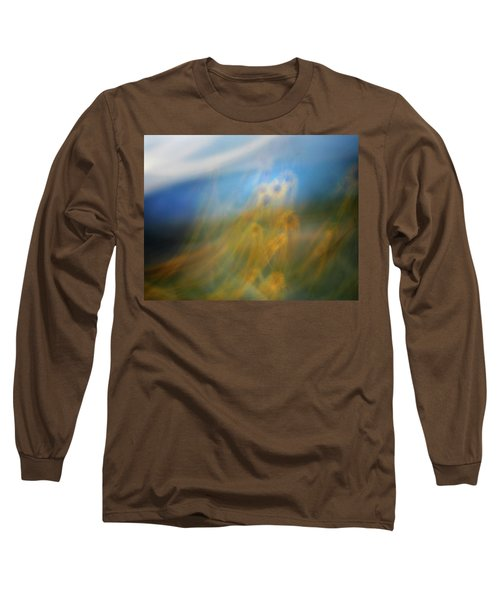 Long Sleeve T-Shirt featuring the photograph Abstract Sunflowers by Marilyn Hunt