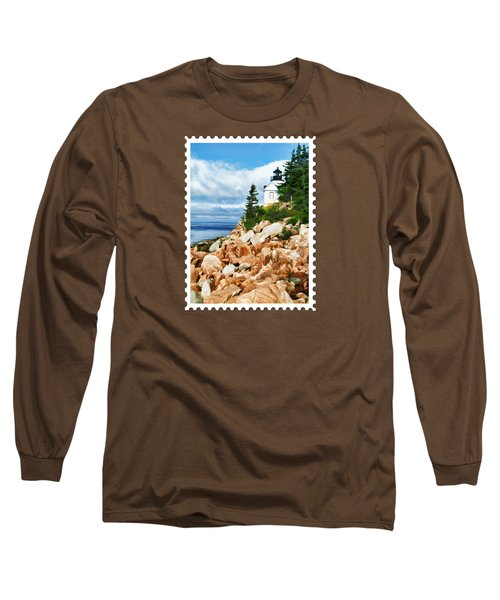 Acadia Bass Harbor Head Lighthouse On Mt Desert Island Maine Long Sleeve T-Shirt