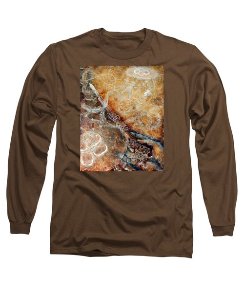 Ace Of Wands Long Sleeve T-Shirt by Ashley Kujan