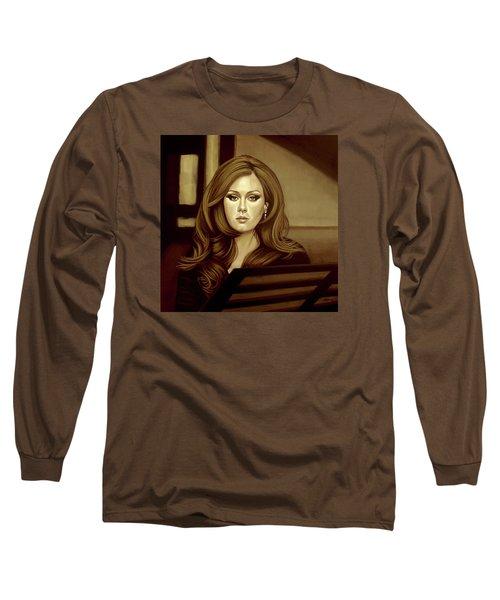 Adele Gold Long Sleeve T-Shirt by Paul Meijering