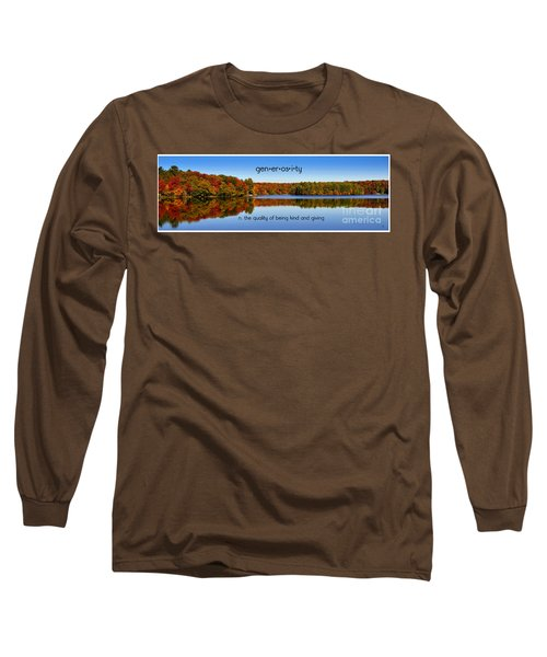 Long Sleeve T-Shirt featuring the photograph Adirondack October Generosity by Diane E Berry