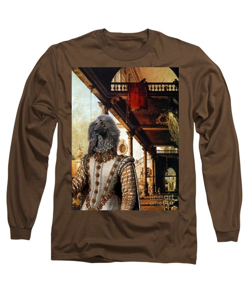 Afghan Hound-capriccio Of Colonade And The Courtyard Of A Palace Canvas Fine Art Print Long Sleeve T-Shirt