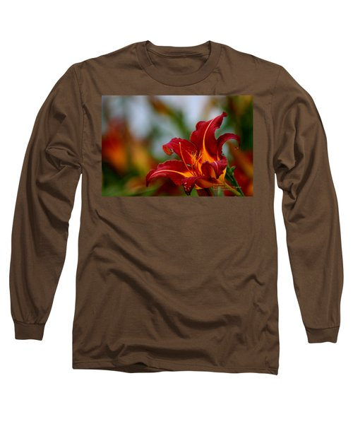 Long Sleeve T-Shirt featuring the photograph After The Rain Came The Flowers  by Paul SEQUENCE Ferguson             sequence dot net