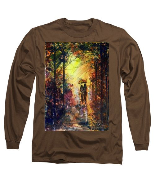 Long Sleeve T-Shirt featuring the painting After The Rain by Raymond Doward