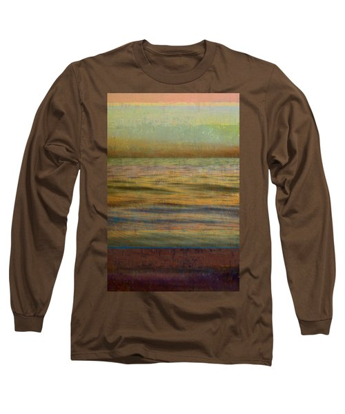 Long Sleeve T-Shirt featuring the photograph After The Sunset - Teal Sky by Michelle Calkins