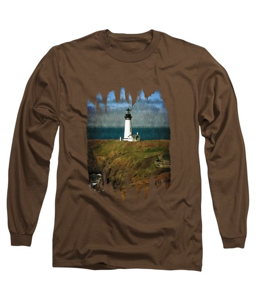 Afternoon At The Yaquina Head Lighthouse Long Sleeve T-Shirt