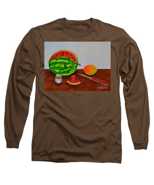 Long Sleeve T-Shirt featuring the painting Afternoon Summer Treat by Melvin Turner