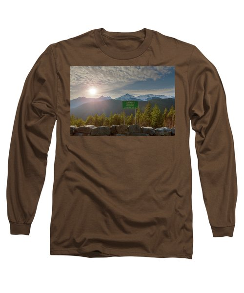 Afternoon Sun Over Tantalus Range From Lookout Long Sleeve T-Shirt