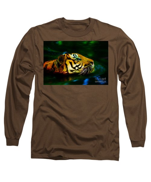 Afternoon Swim - Tiger Long Sleeve T-Shirt
