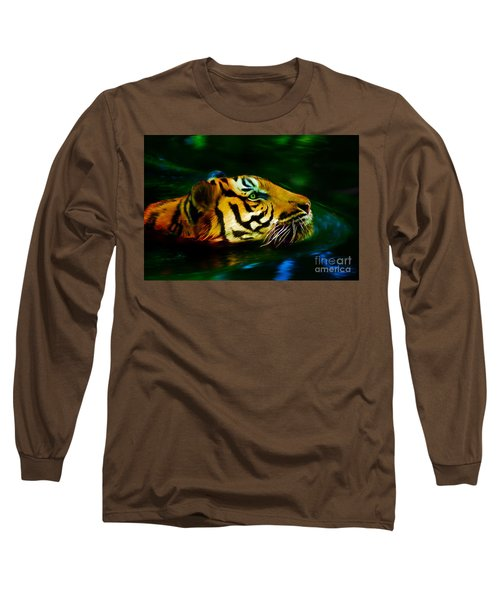 Afternoon Swim - Tiger Long Sleeve T-Shirt