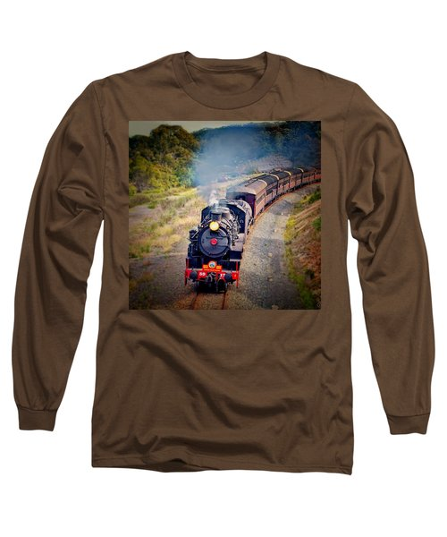 Long Sleeve T-Shirt featuring the photograph Age Of Steam by Wallaroo Images
