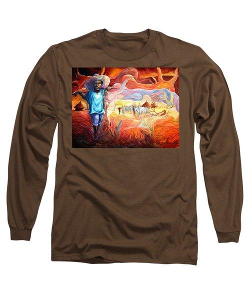 Agoi - The Sheperd Boy Long Sleeve T-Shirt by Bankole Abe