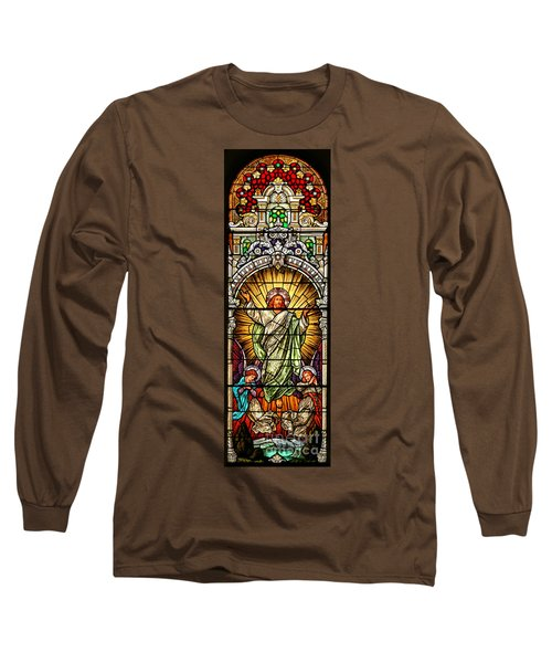 Long Sleeve T-Shirt featuring the photograph Stained Glass Scene 10 Crop by Adam Jewell