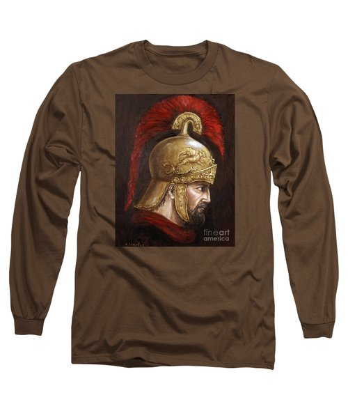 Long Sleeve T-Shirt featuring the painting Ajax by Arturas Slapsys