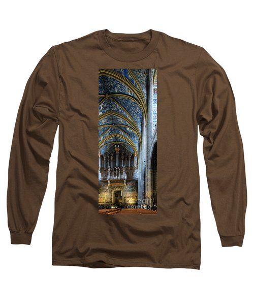 Albi Cathedral Nave Long Sleeve T-Shirt by RicardMN Photography