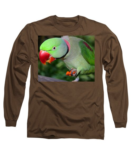 Alexandrine Parrot Feeding Long Sleeve T-Shirt