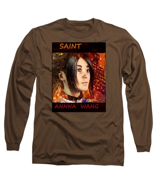 Long Sleeve T-Shirt featuring the painting All Souls Day Saint Anna Wang by Suzanne Silvir