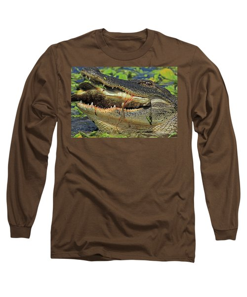 Alligator With Tilapia Long Sleeve T-Shirt