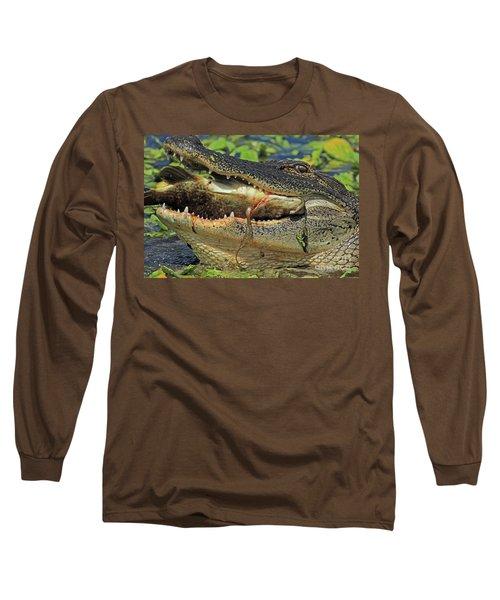 Alligator With Tilapia Long Sleeve T-Shirt