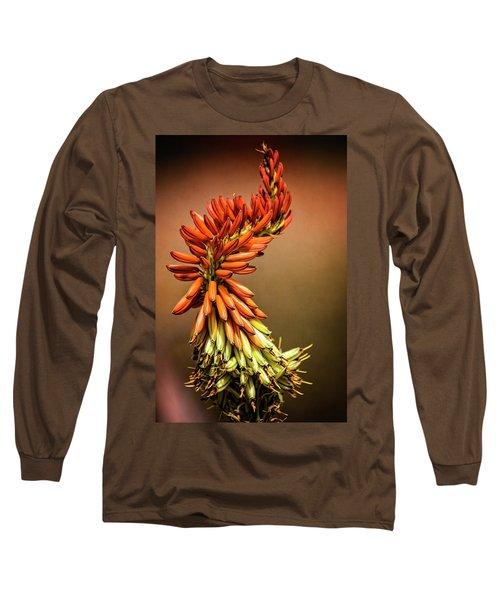 Long Sleeve T-Shirt featuring the photograph Aloe Vera Twist  by Saija Lehtonen