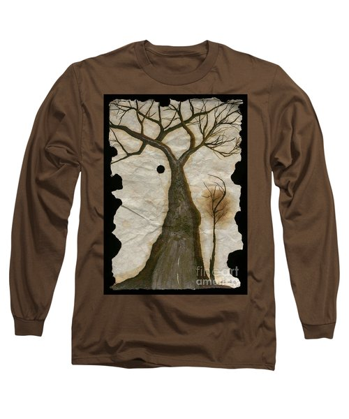 Along The Crumbling Fork In The Road Of The Tree Of Life Acfrtl Long Sleeve T-Shirt by Talisa Hartley