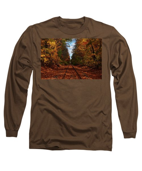 Along The Rails Long Sleeve T-Shirt by Tricia Marchlik
