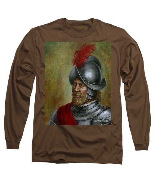 Alonso De Alvarado Long Sleeve T-Shirt by Arturas Slapsys