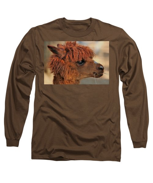 Alpaca Portrait Long Sleeve T-Shirt