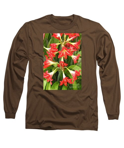 Amaryllis Lily Bunch Long Sleeve T-Shirt