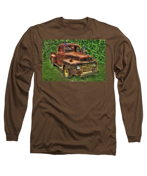 American Ford 1950 F-1 Ford Pickup Truck Art Long Sleeve T-Shirt