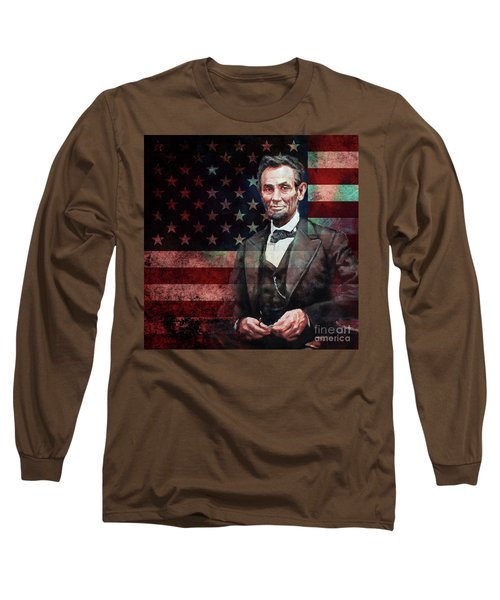American President Abraham Lincoln 01 Long Sleeve T-Shirt by Gull G