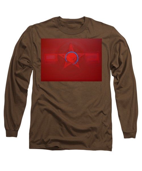 American Sky Blue Long Sleeve T-Shirt by Charles Stuart