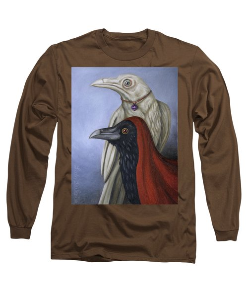 Long Sleeve T-Shirt featuring the painting Amethyst by Leah Saulnier The Painting Maniac