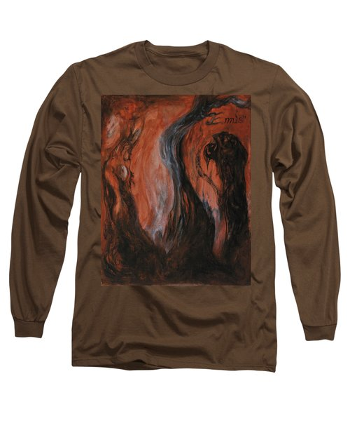 Long Sleeve T-Shirt featuring the painting Amongst The Shades by Christophe Ennis