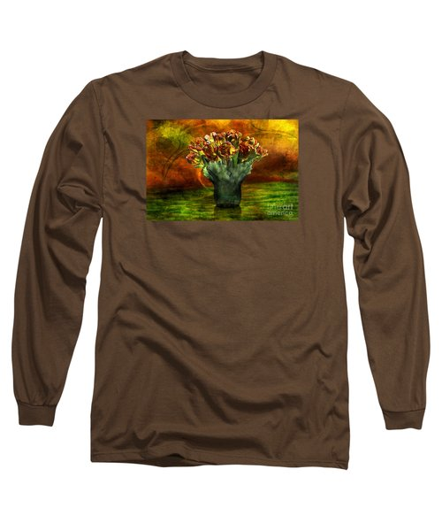 Long Sleeve T-Shirt featuring the digital art An Armful Of Tulips by Johnny Hildingsson