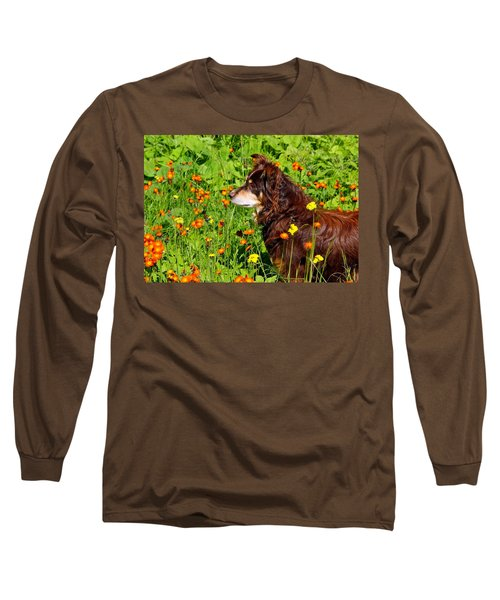 Long Sleeve T-Shirt featuring the photograph An Aussie's Thoughtful Moment by Debbie Oppermann