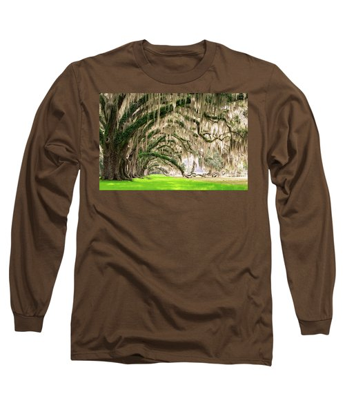 Ancient Southern Oaks Long Sleeve T-Shirt by Serge Skiba