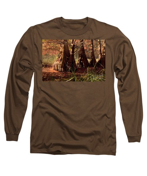 Long Sleeve T-Shirt featuring the photograph Ancient Tree At Lake Murray by Tamyra Ayles